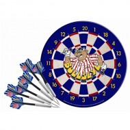 Bullseye dartboard and darts