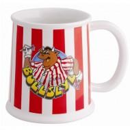 Bullsye ceramic tankard mug