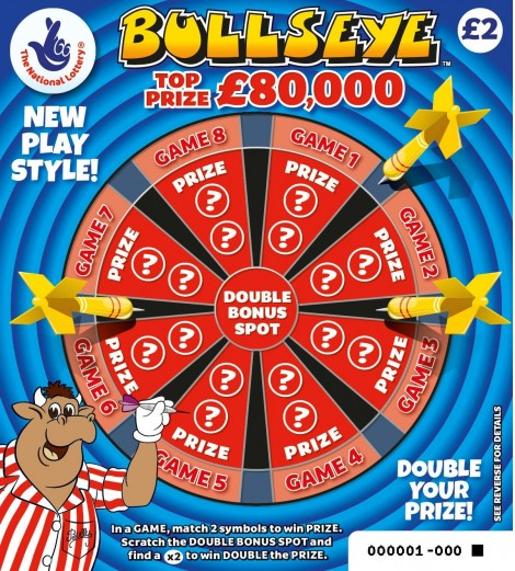 New Bullseye National Lottery Scratchcard